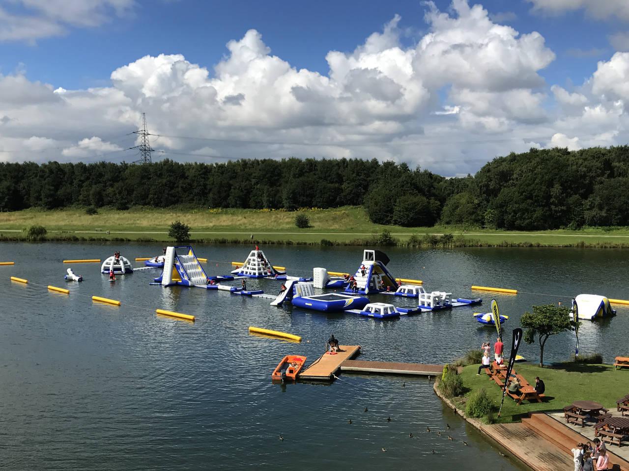 Inflatable Obstacle fun at Sheffield Aqua Park